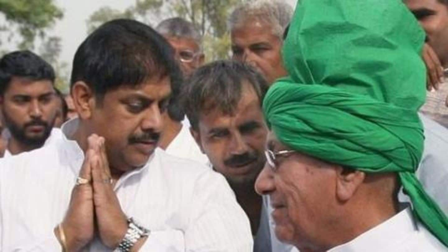 Family feud escalates, OP Chautala expels son Ajay from INLD