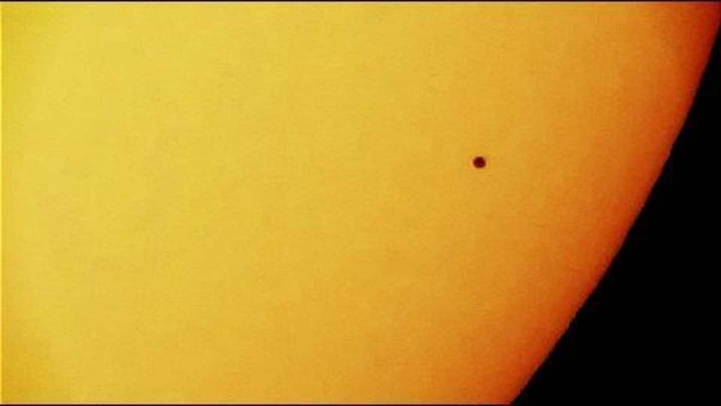 Mercury transiting Sun would be visible from India