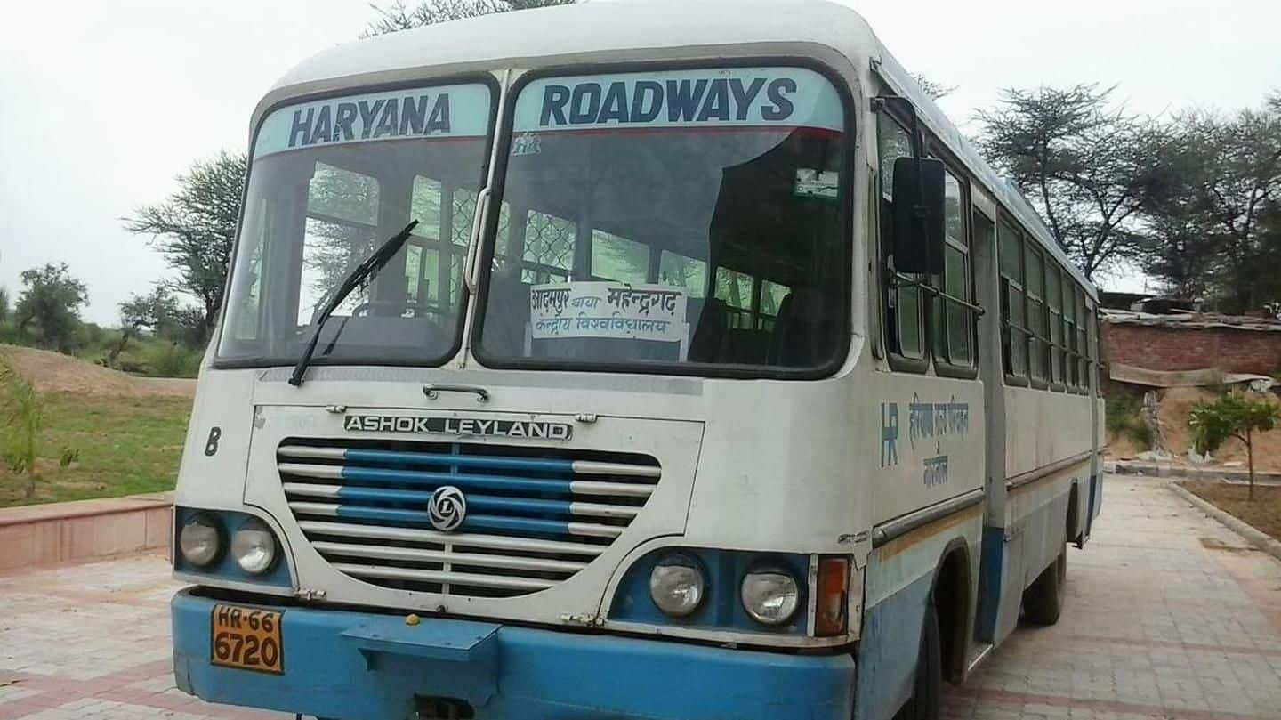 Haryana Roadways-employees on strike against govt's decision to introduce private-buses