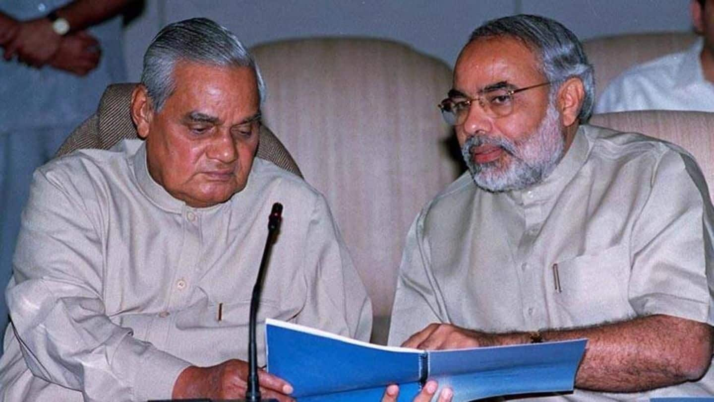 Modi visits Vajpayee at AIIMS for the third time