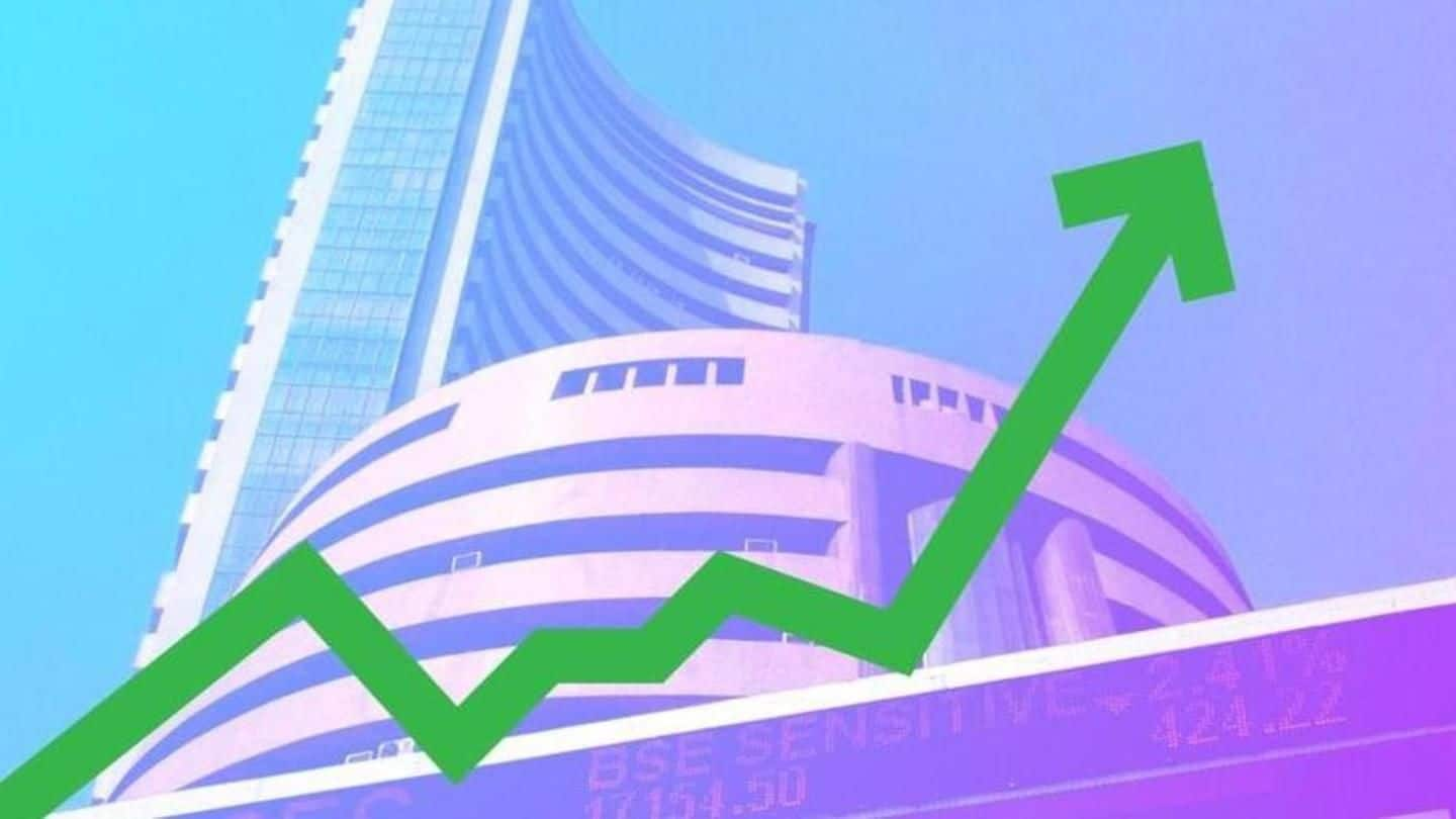 Mumbai: BSE gains over 100 points, Nifty above 10,350
