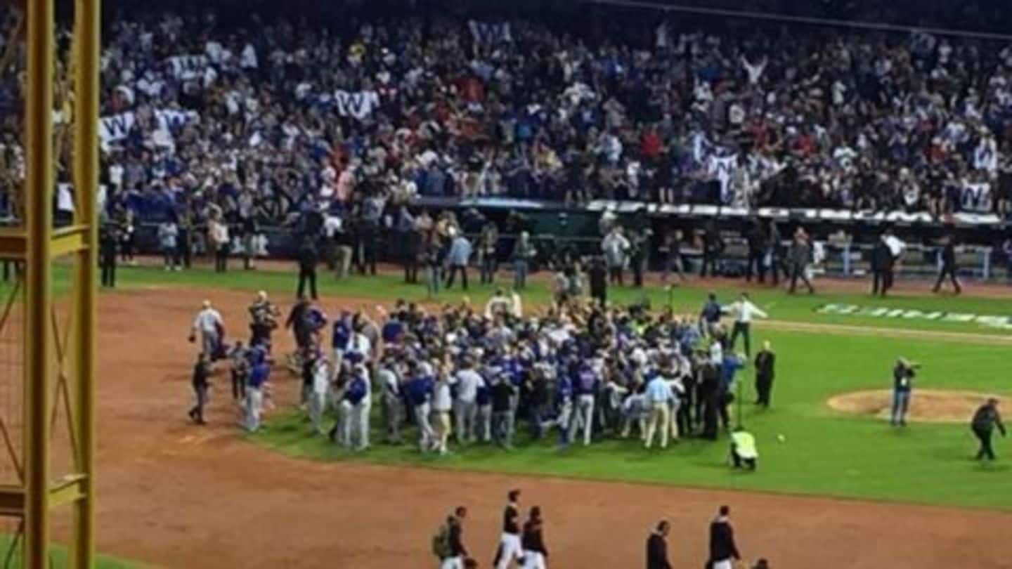 Chicago Cubs win the World Series ending a 108-year wait