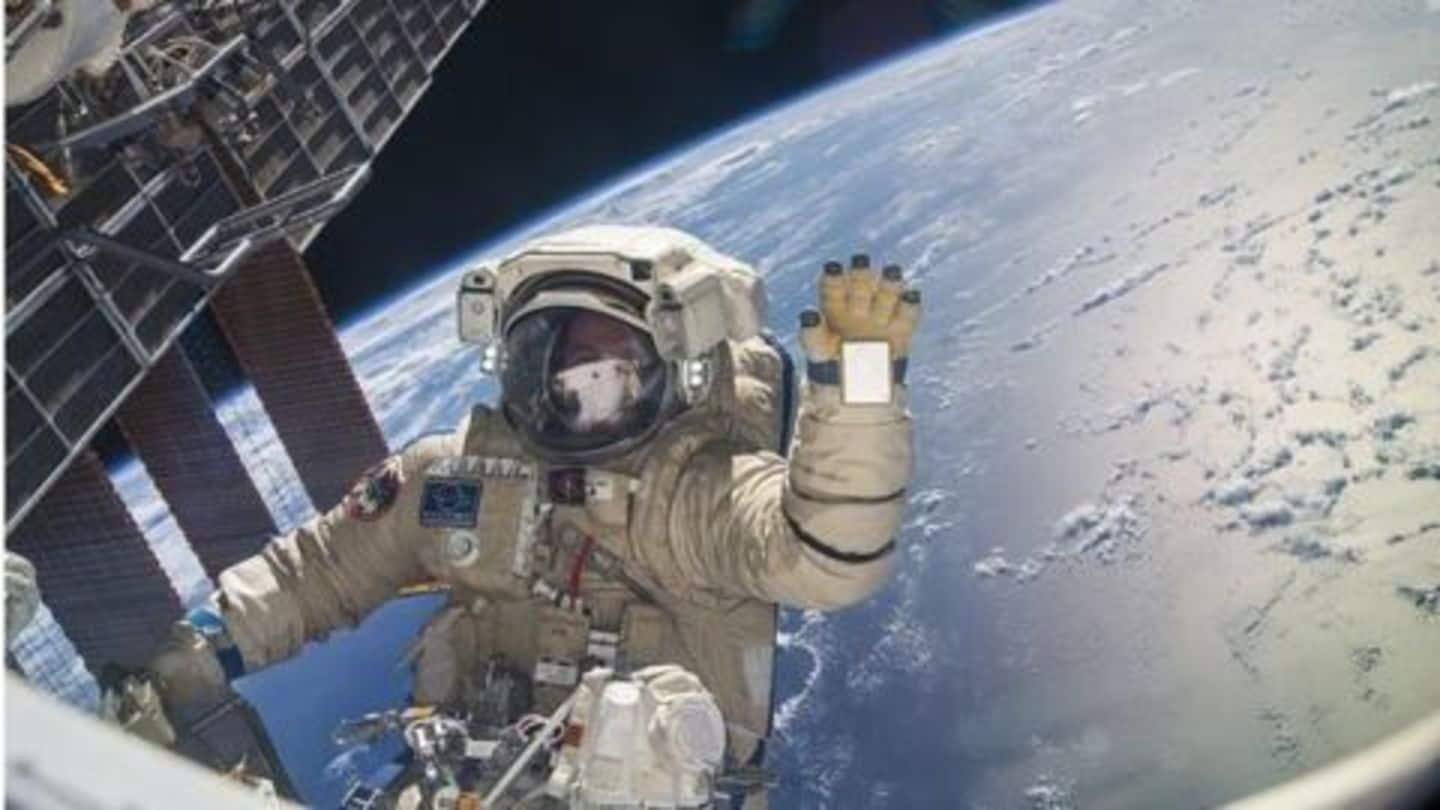 Lone astronaut casts vote before US election