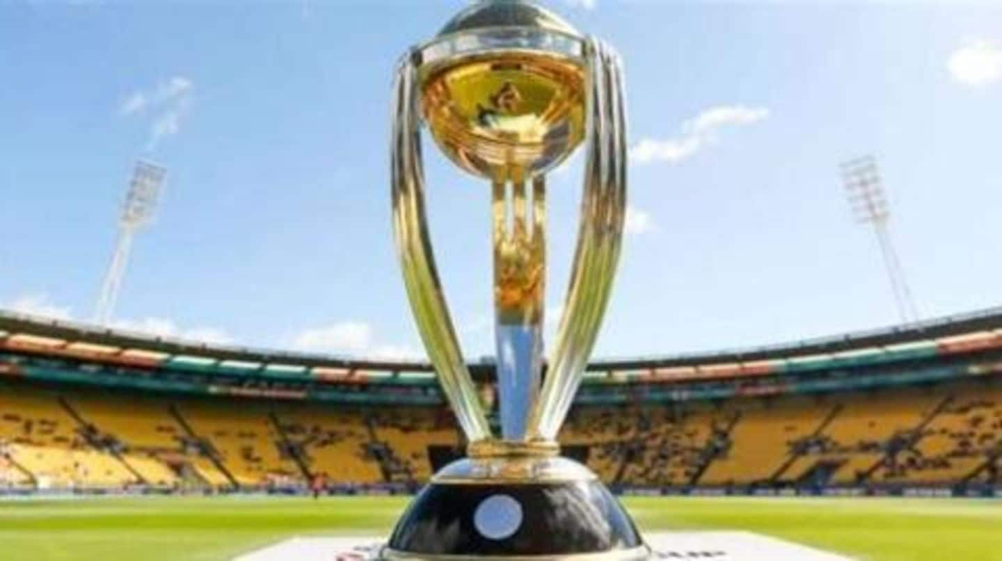 2019 ICC World Cup trophy arrives in Delhi
