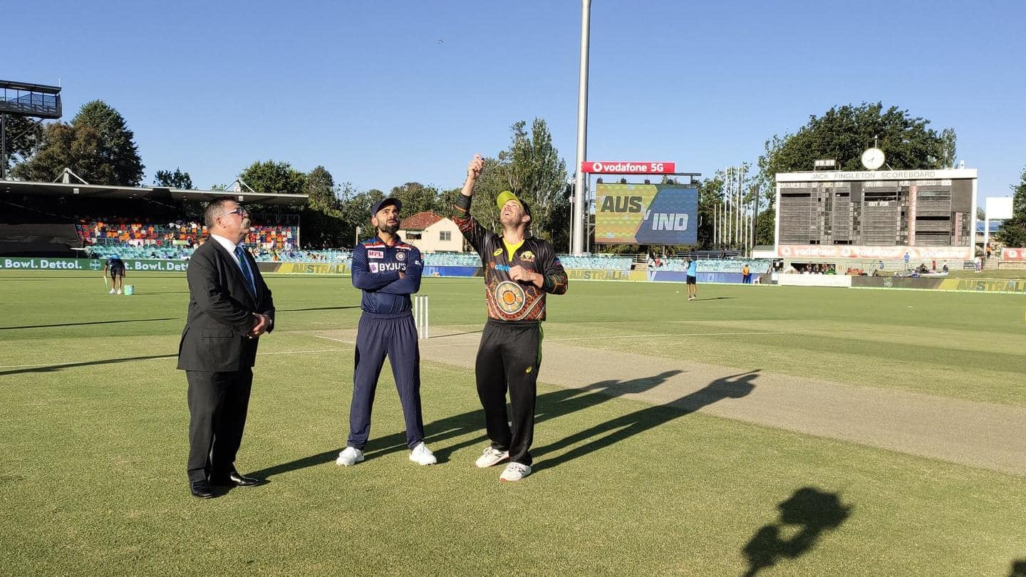 Australia win toss, elect to field first in first T20I
