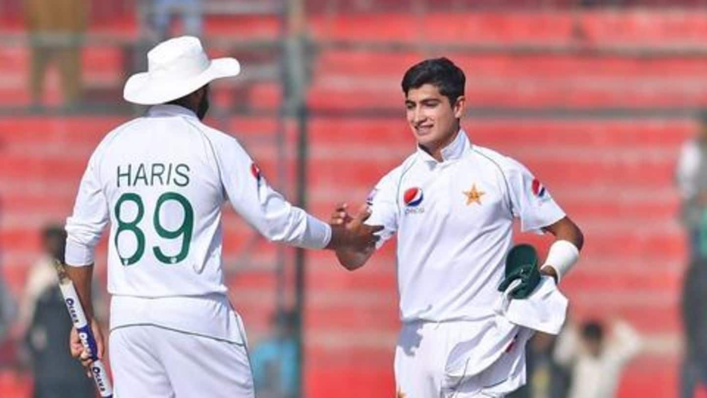 Pakistan's Naseem Shah claims this superb record in Test cricket