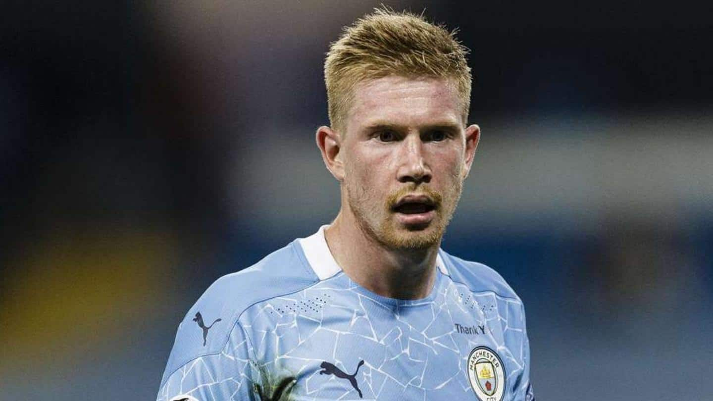 Kevin De Bruyne out for 4-6 weeks with injury