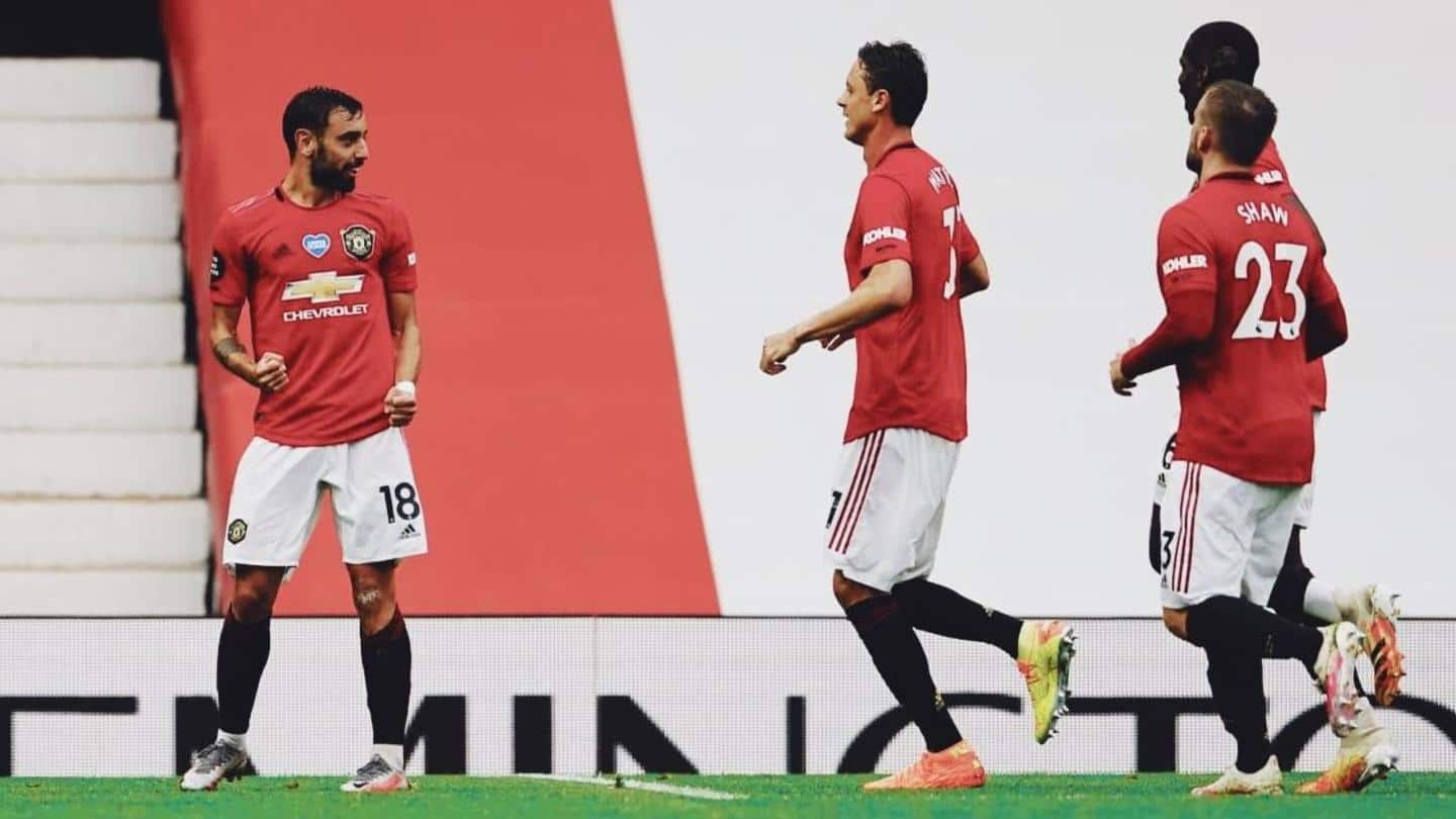 Records scripted by Manchester United in Premier League 2019-20 season
