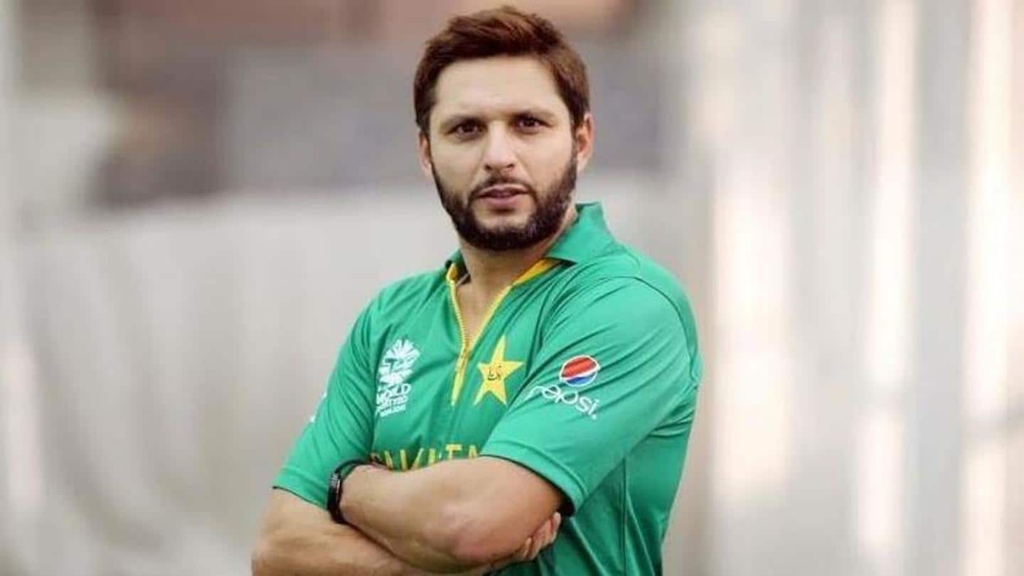 Pakistan cricketers to sport Shahid Afridi Foundation logo on kits