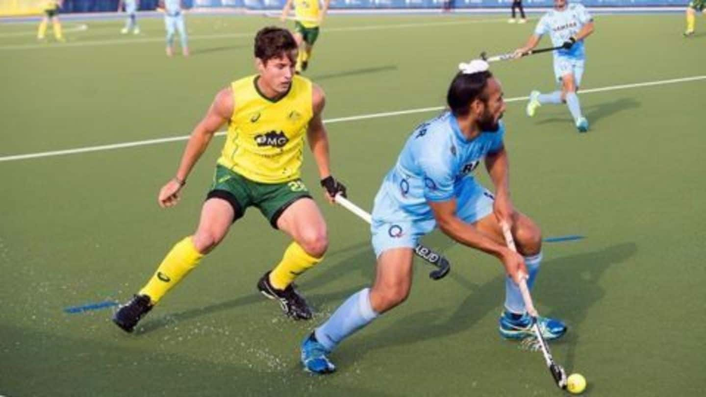 Australia level the ongoing hockey series with India