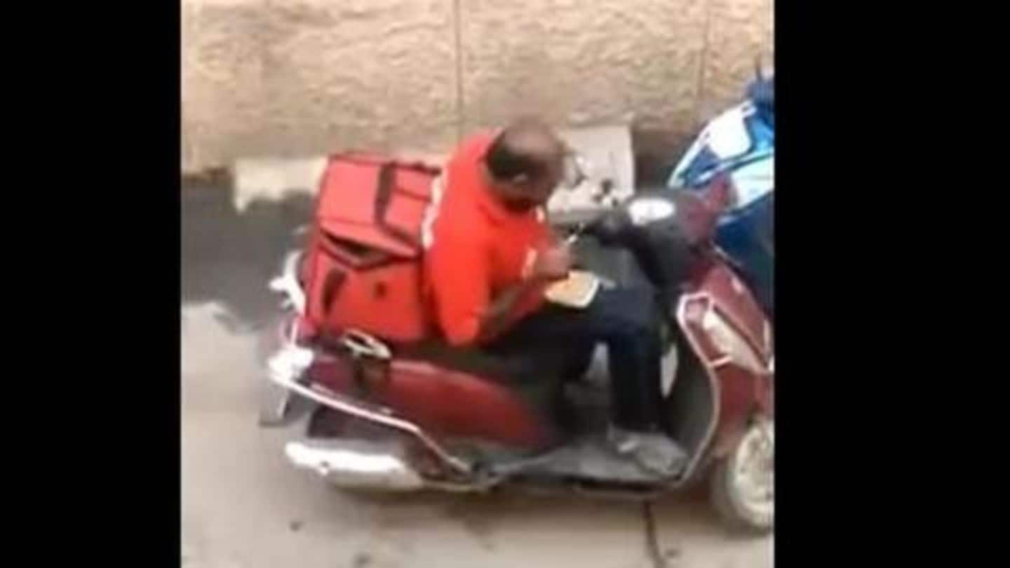 Zomato delivery man seen eating ordered food, company issues statement