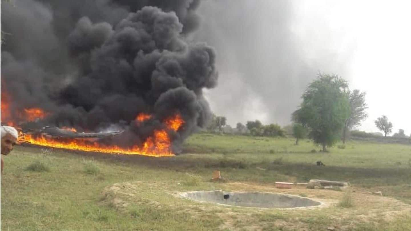 IAF's fighter jet crashes in Jodhpur; no casualties reported