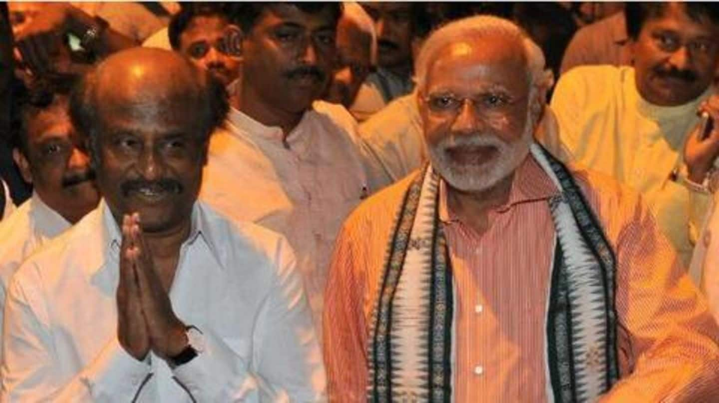 Rajinikanth says Modi stronger than 10 persons aligning against him