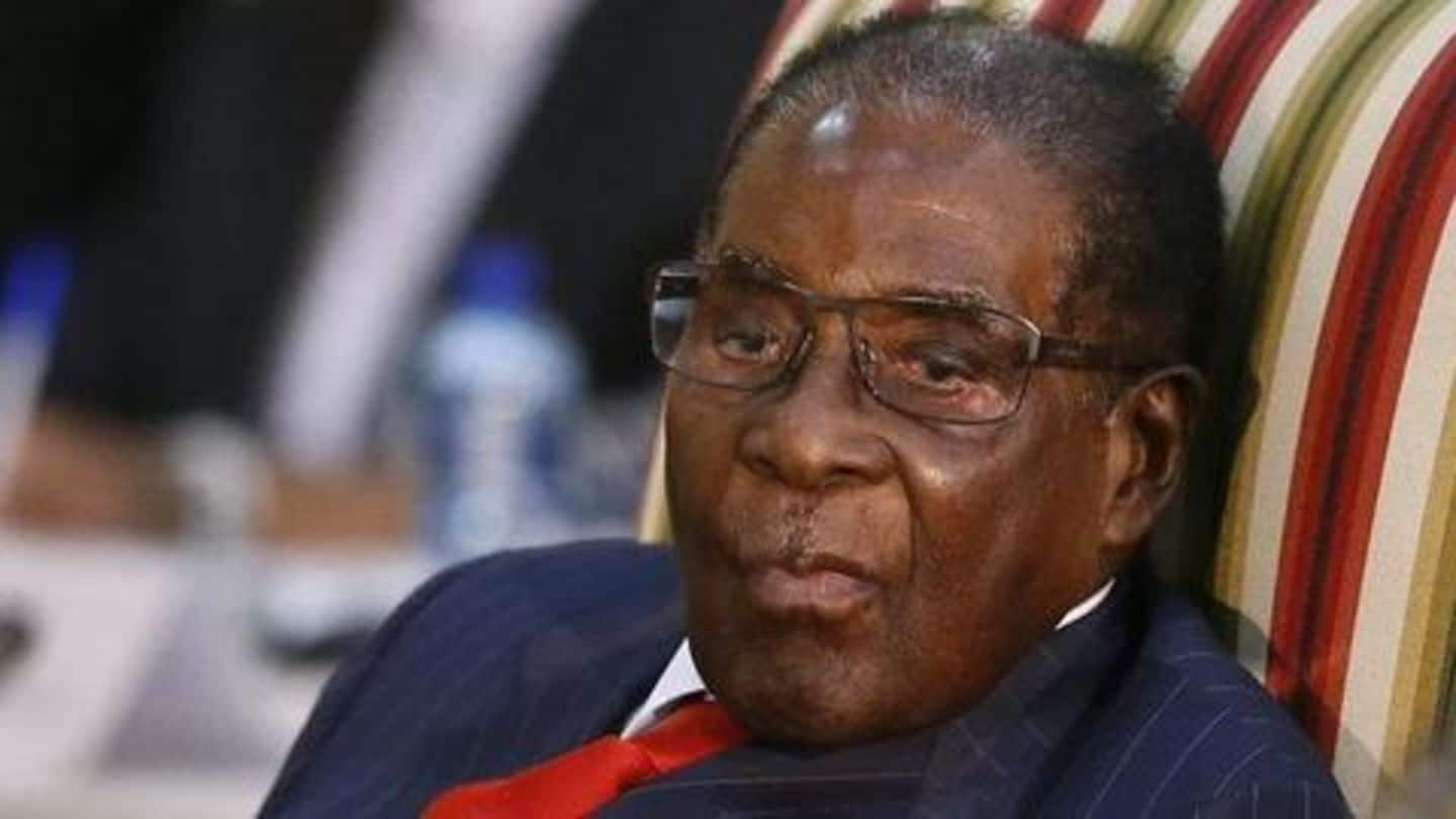 Zimbabwe's ex-President Robert Mugabe looted of Rs. 7cr in cash