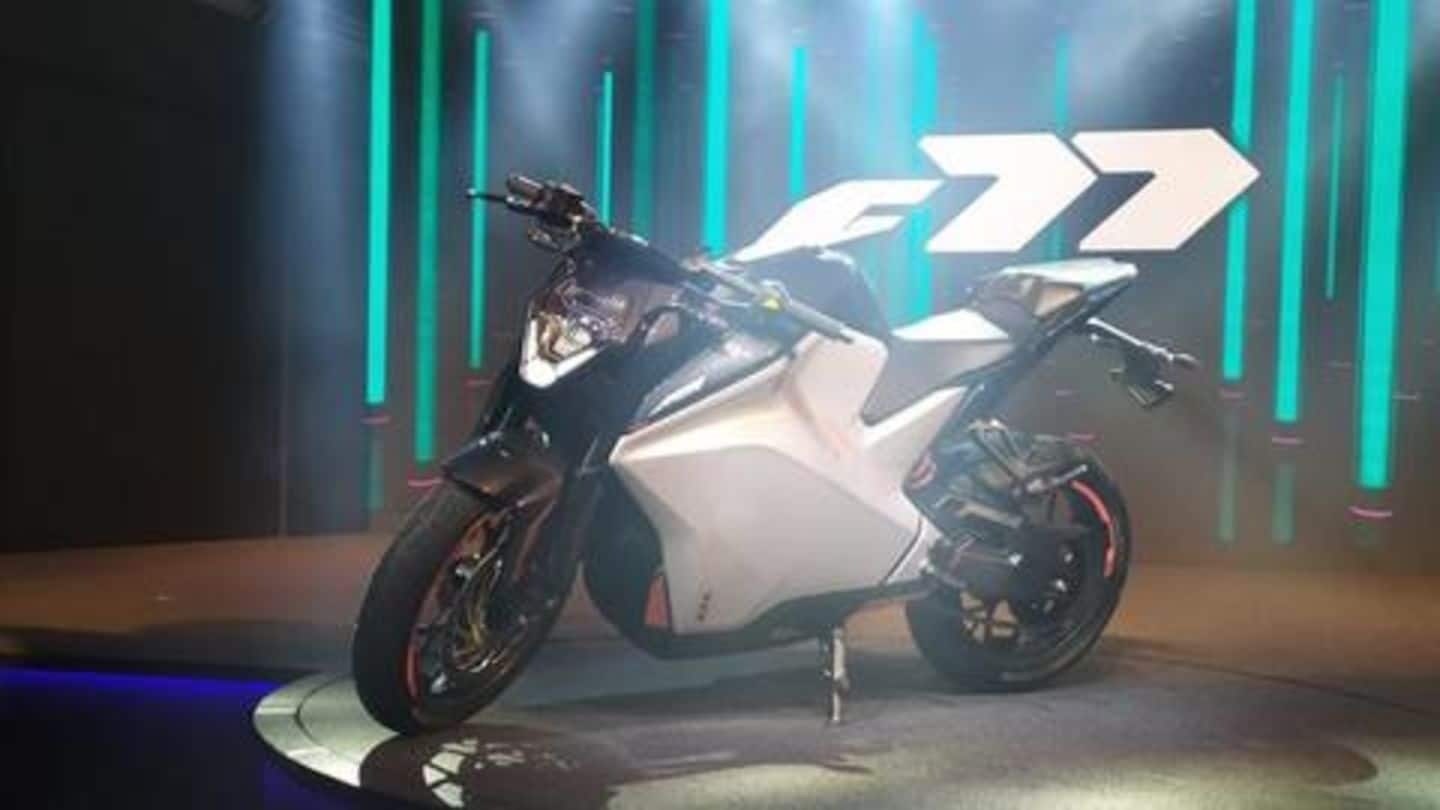 India-made Ultraviolette F77, a fully-electric performance bike, breaks cover