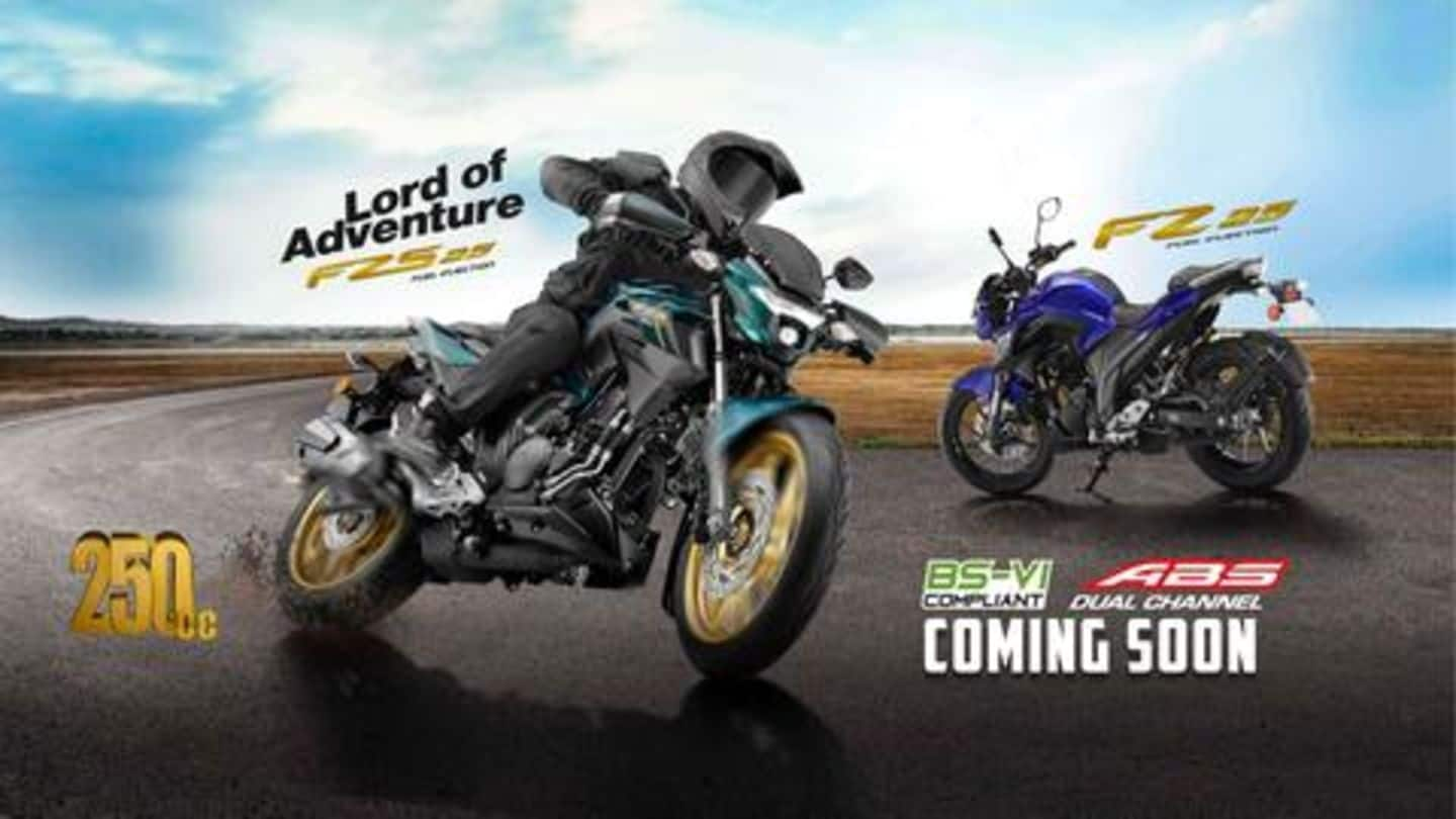 Yamaha teases new 250cc BS6-ready FZ 25 motorcycles in India