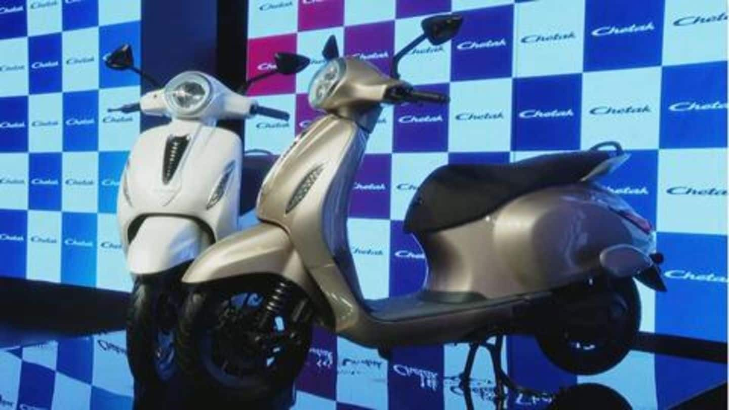 Bajaj Auto launches its iconic Chetak scooter in all-electric avatar