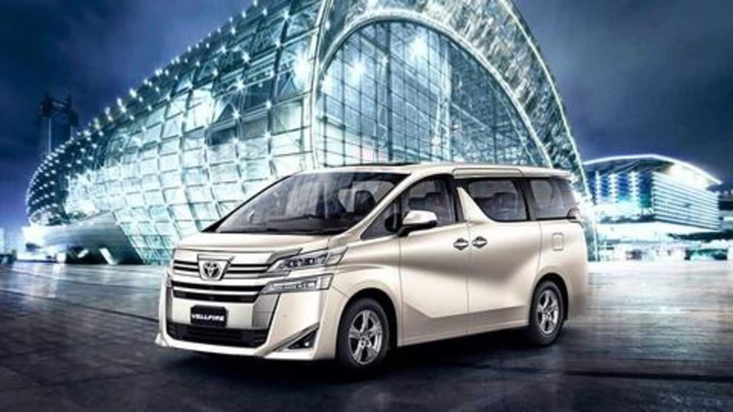 Toyota Vellfire MPV to hit Indian shores in early 2020