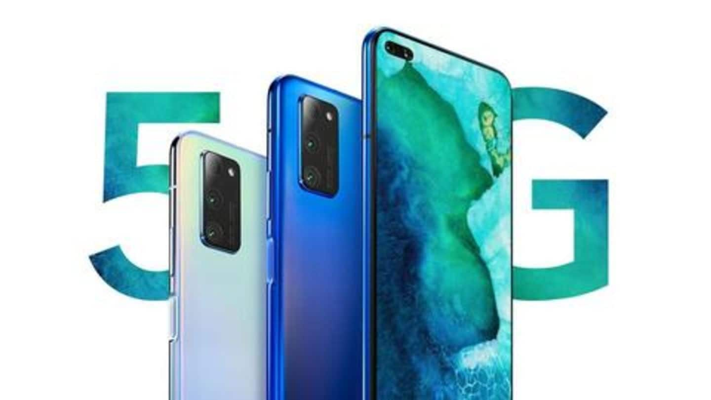 Honor V30-series goes official with 5G support, 40MP triple cameras