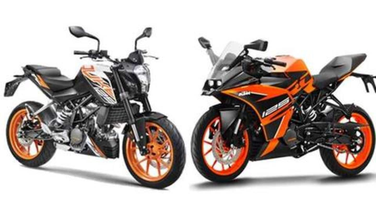 KTM to commence deliveries of BS6-compliant 125cc motorcycles from April