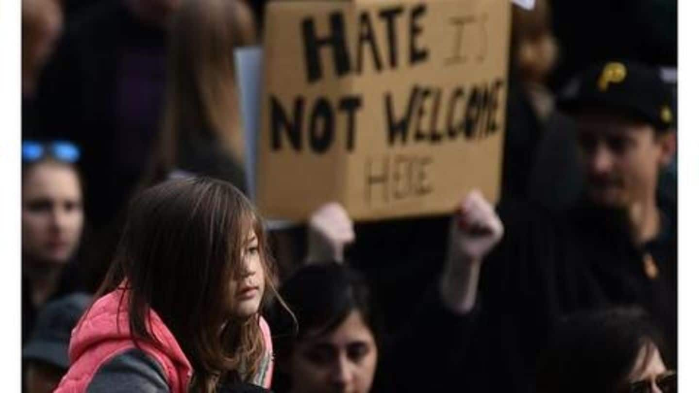 Last year, over 8,400 hate crimes were reported in US