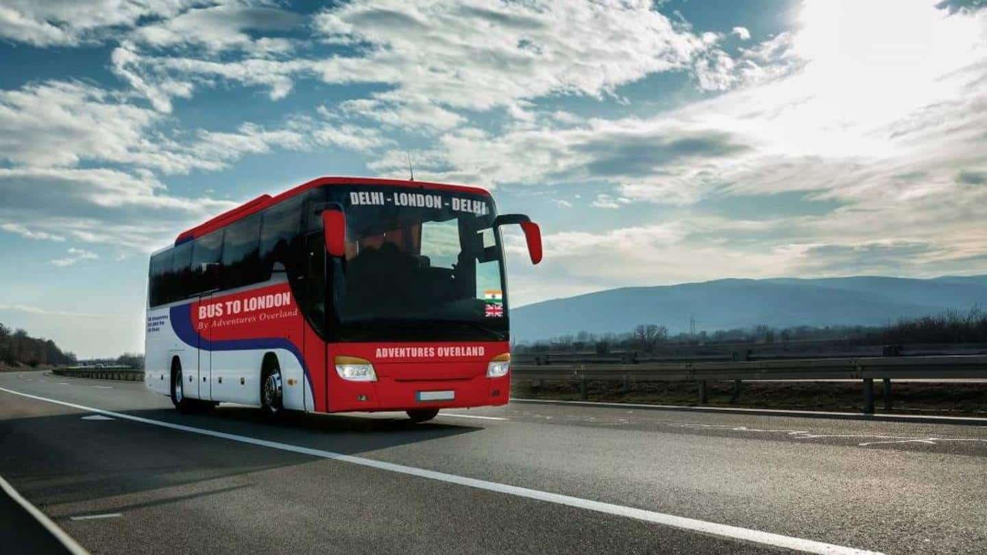 Delhi to London via bus? It's possible, but in 2021
