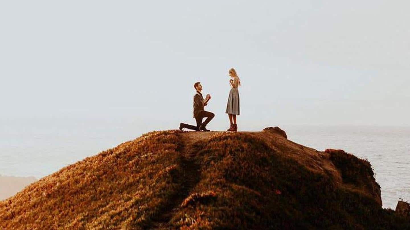 Woman falls down 650ft cliff moments after accepting proposal