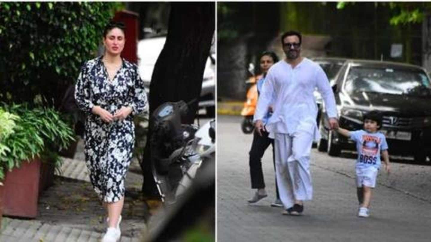 Saif, Kareena step out for a stroll, without masks!