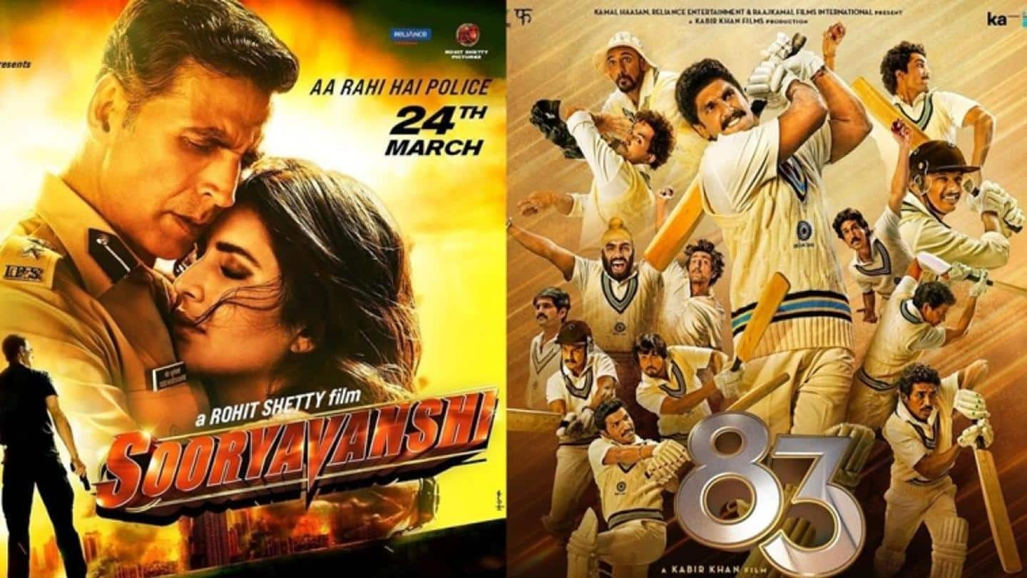 'Sooryavanshi' and '83' all set for a theatrical release