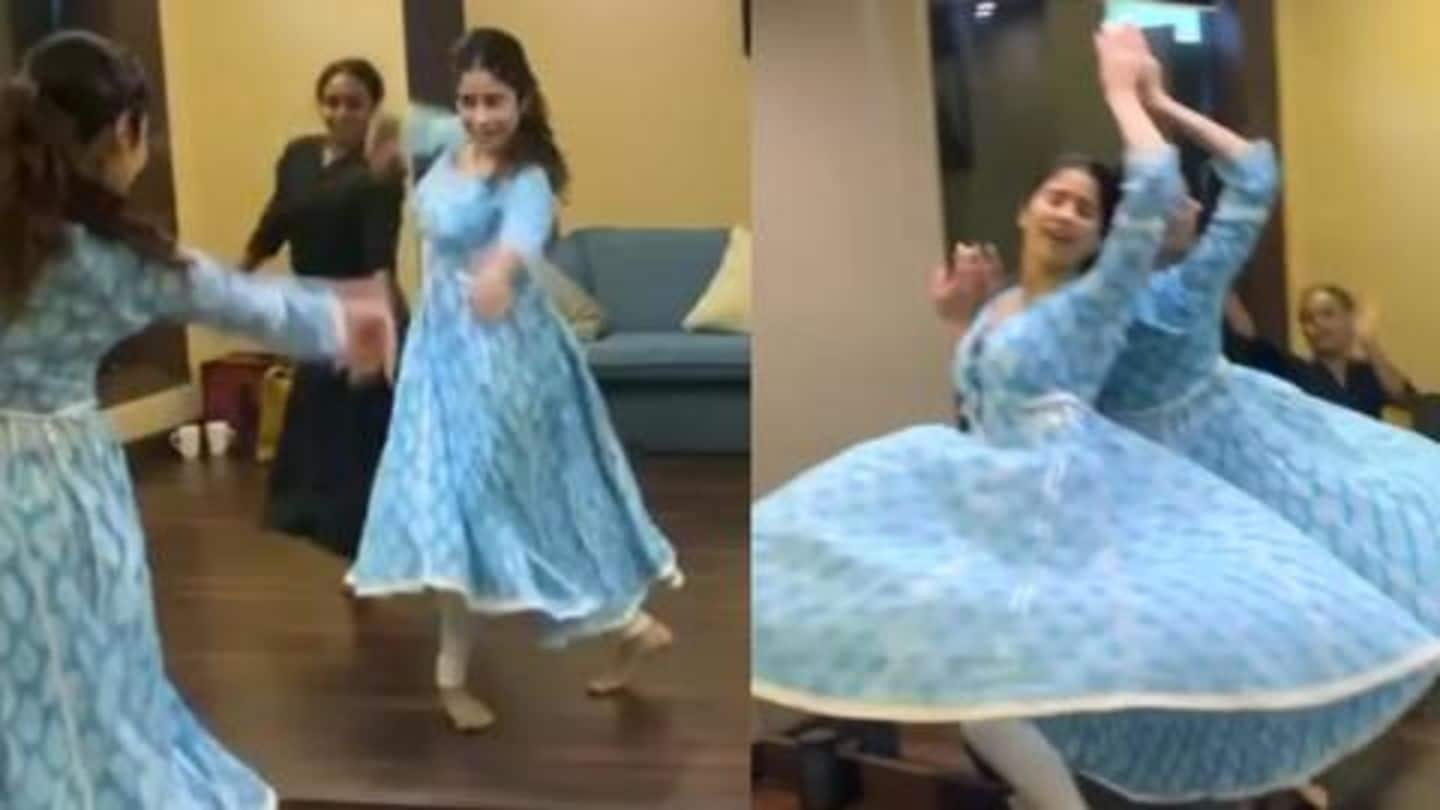 Watch: Janhvi Kapoor's 'dramatic end' to a graceful dance rehearsal