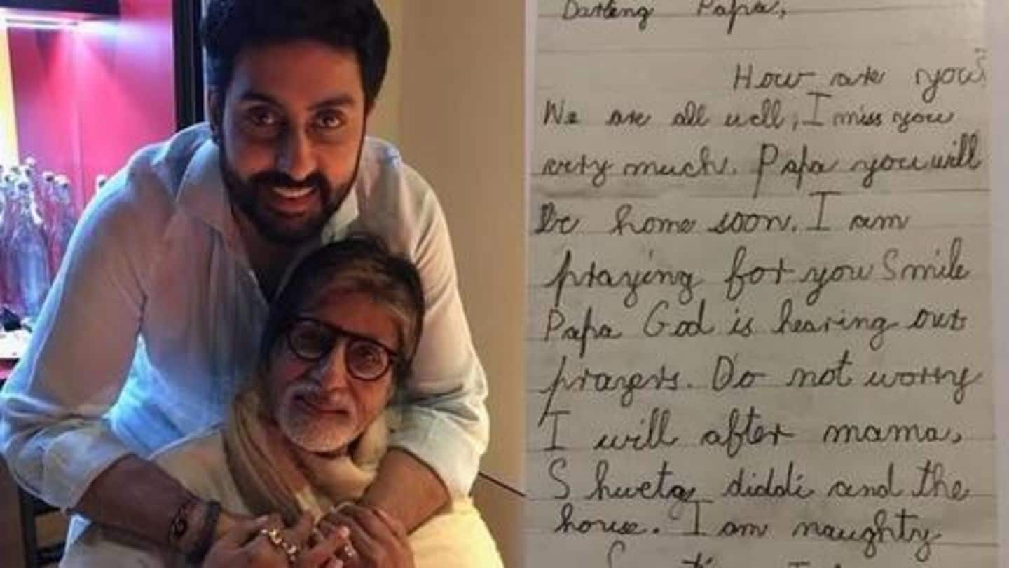 Amitabh Bachchan shares picture of old letter written by Abhishek