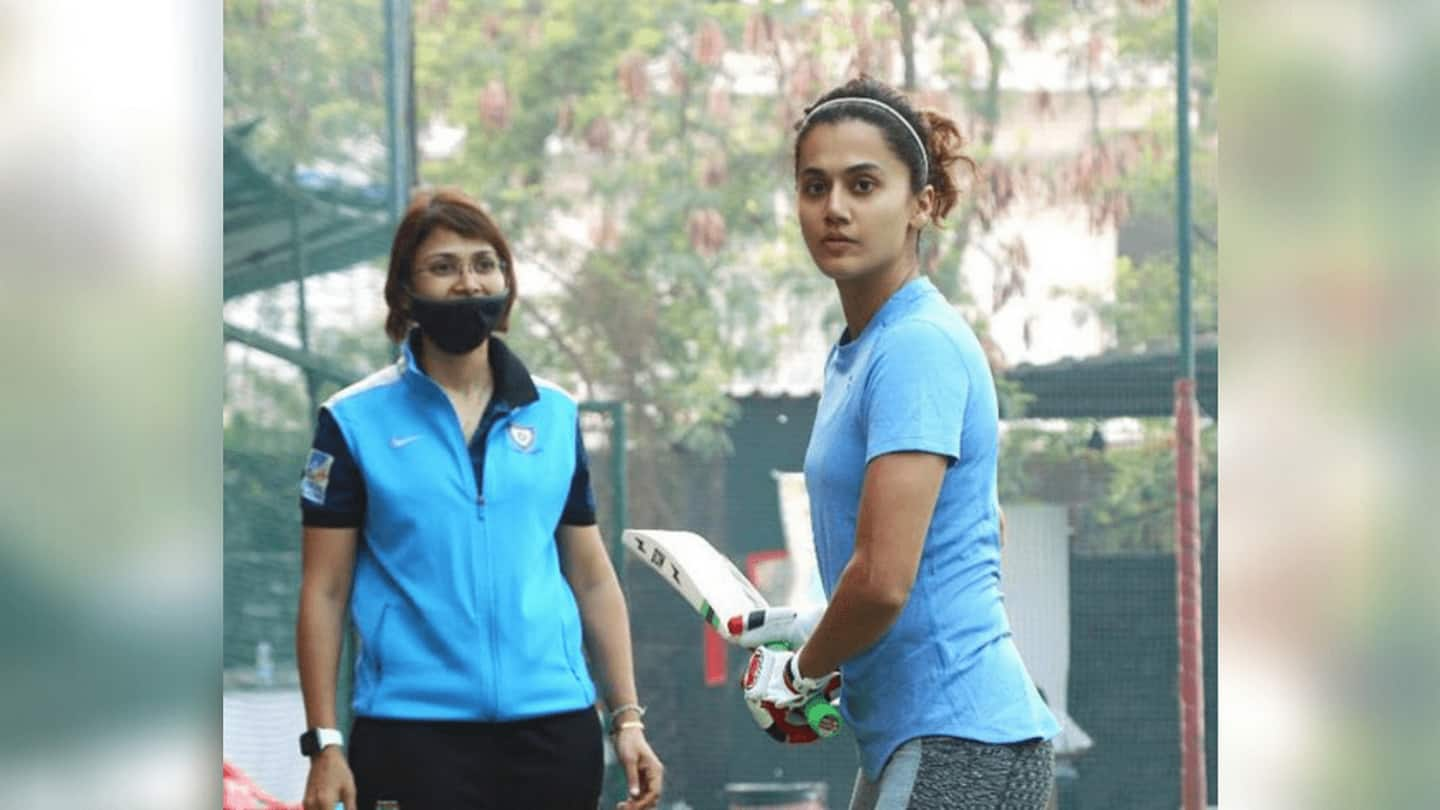 Taapsee begins training for Mithali Raj biopic 'Shabaash Mithu'