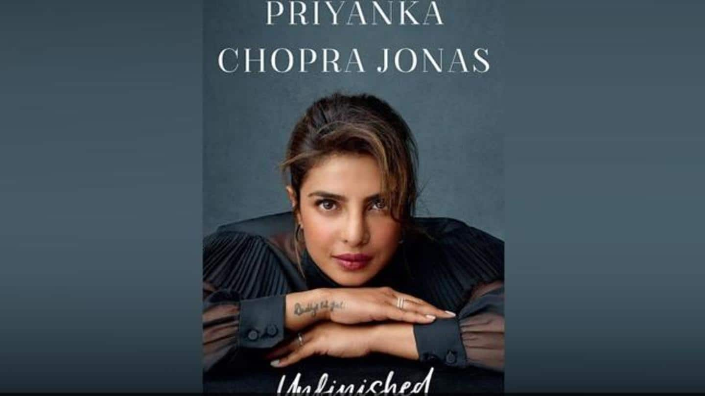 Priyanka Chopra unveils cover of her memoir, 'Unfinished'