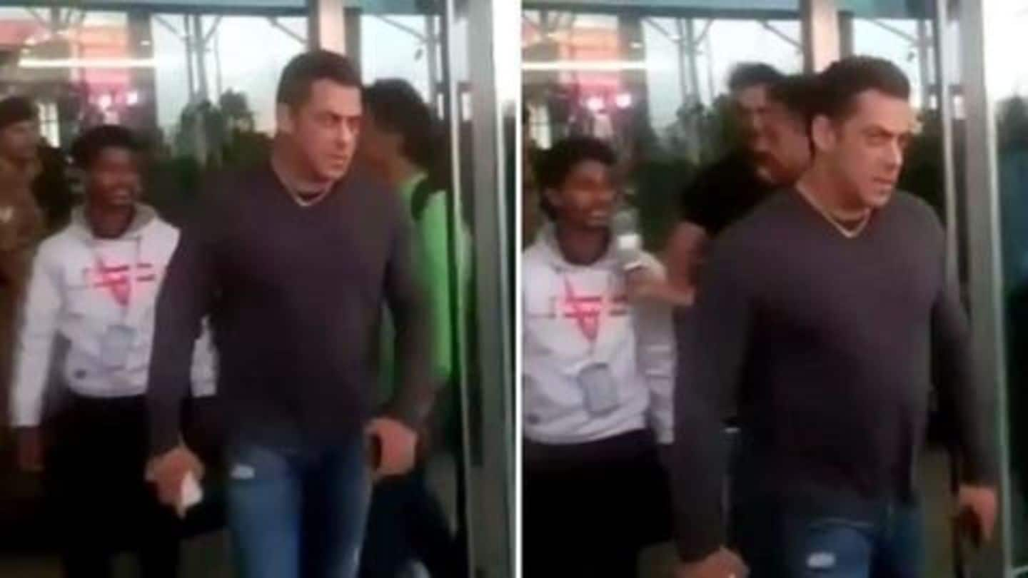 Watch: Angry Salman Khan snatches phone from fan at airport