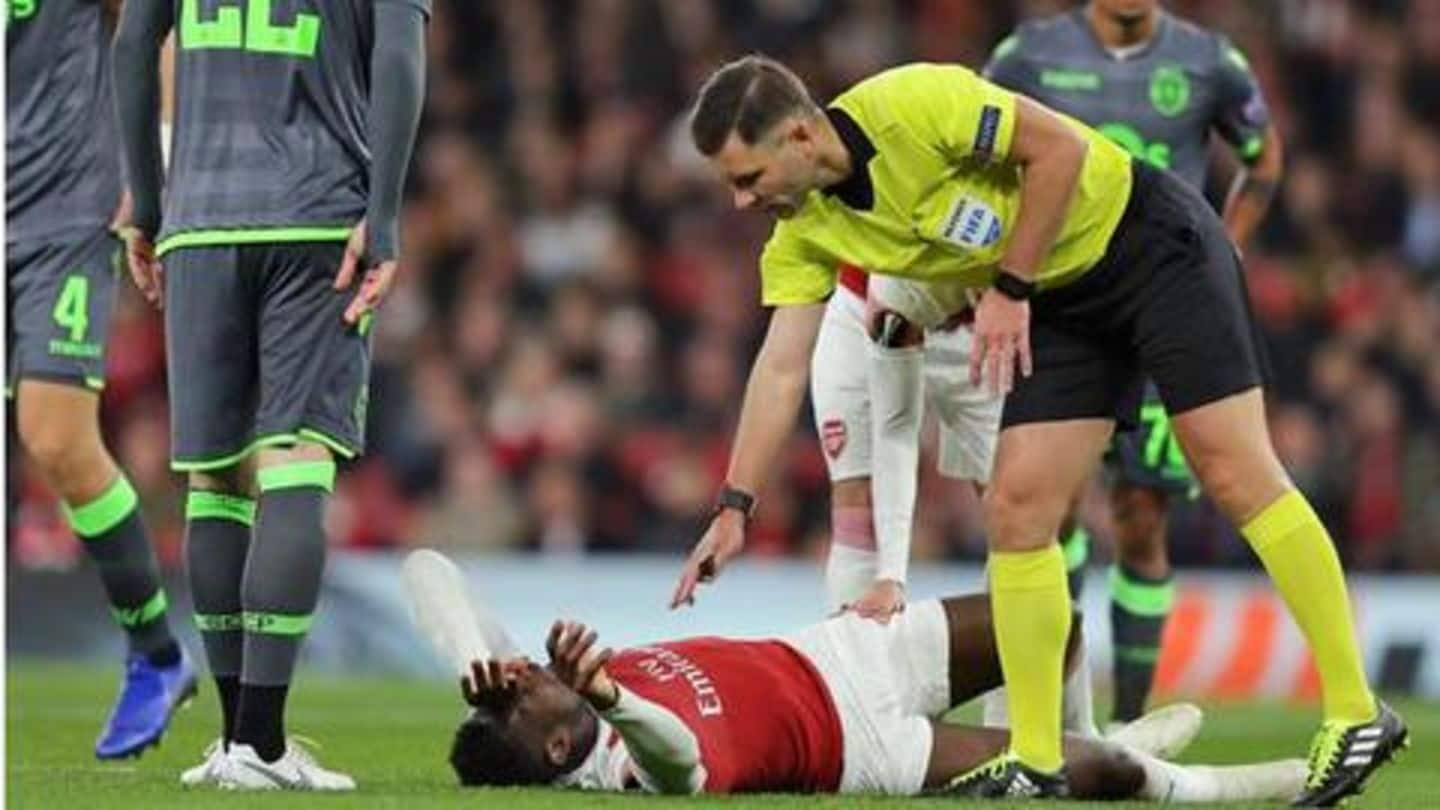 Danny Welbeck suffers major injury, United players send best wishes