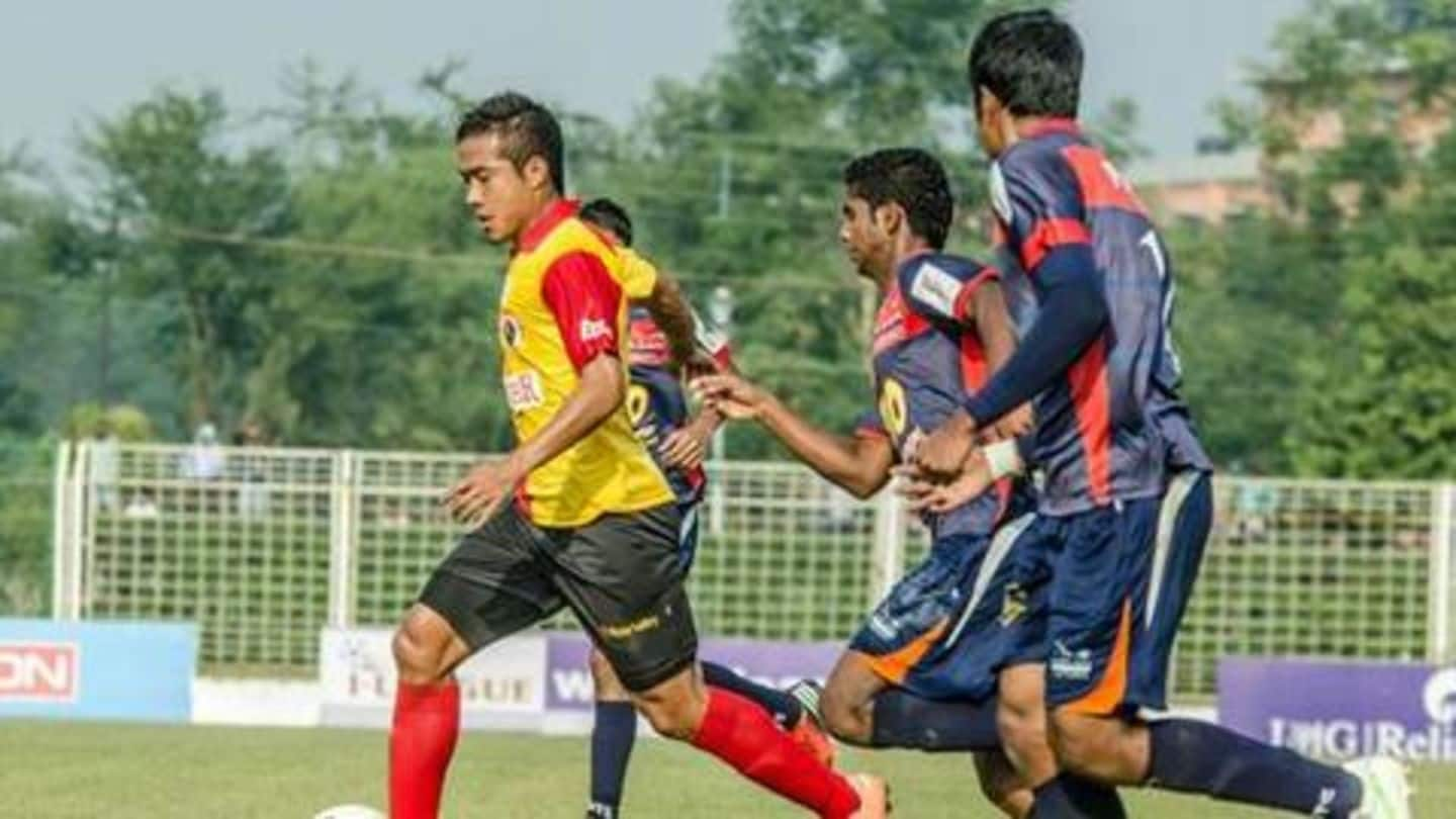 Who are the top five Indian players in the I-League?