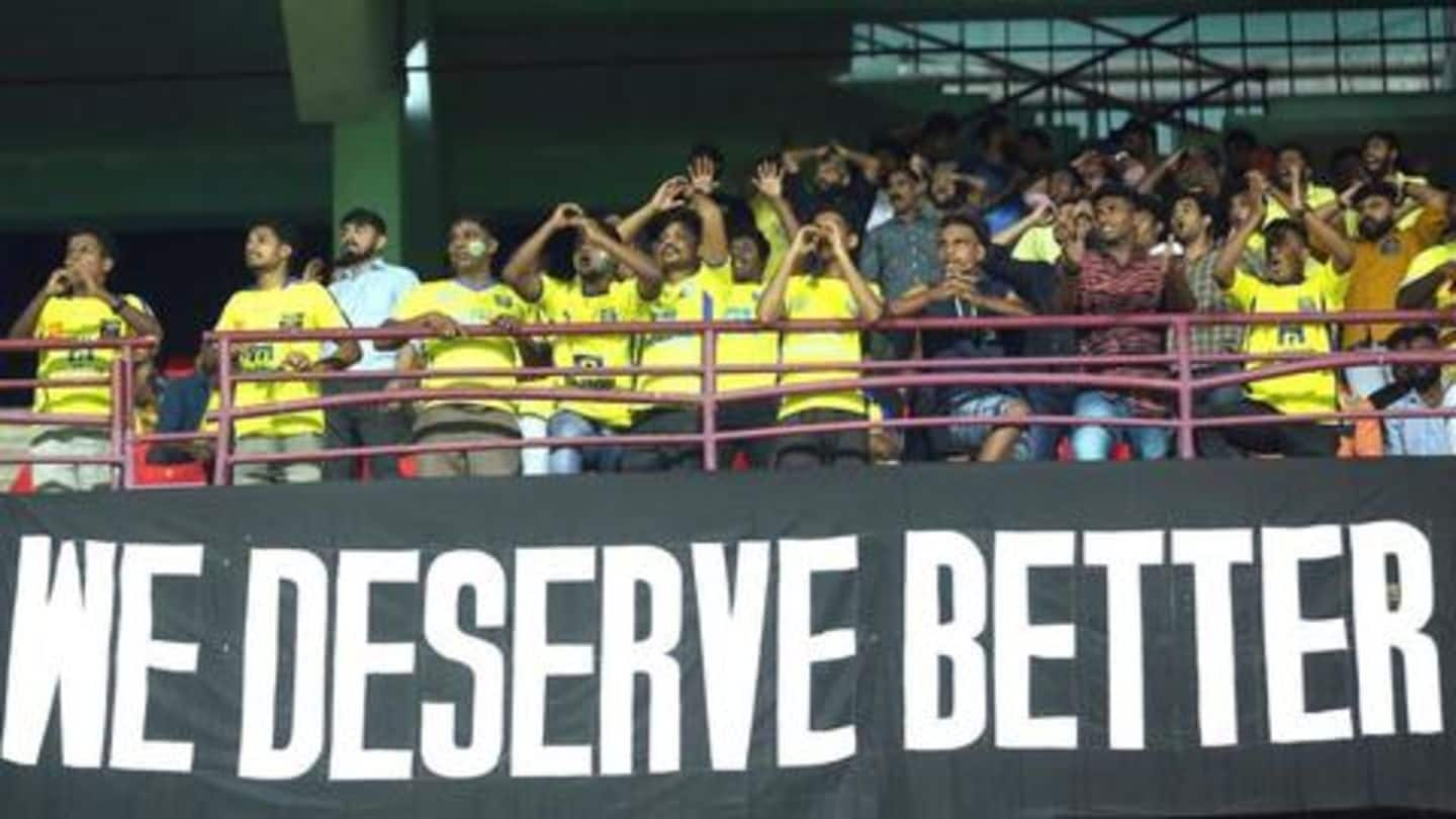 Kerala Blasters see lowest-ever attendance amidst poor performance