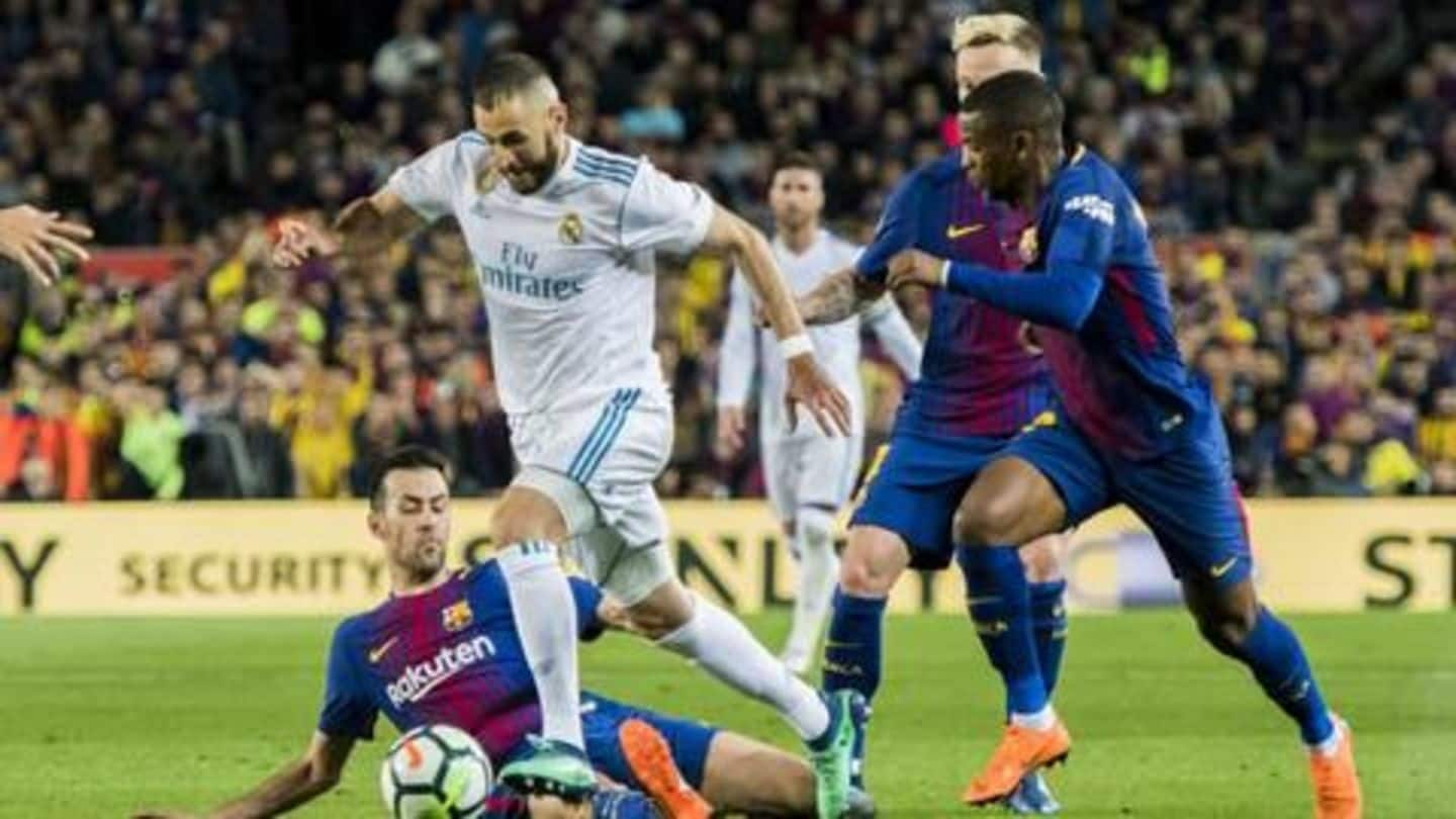 Real Madrid and Barcelona end Camp Nou match at 1-1