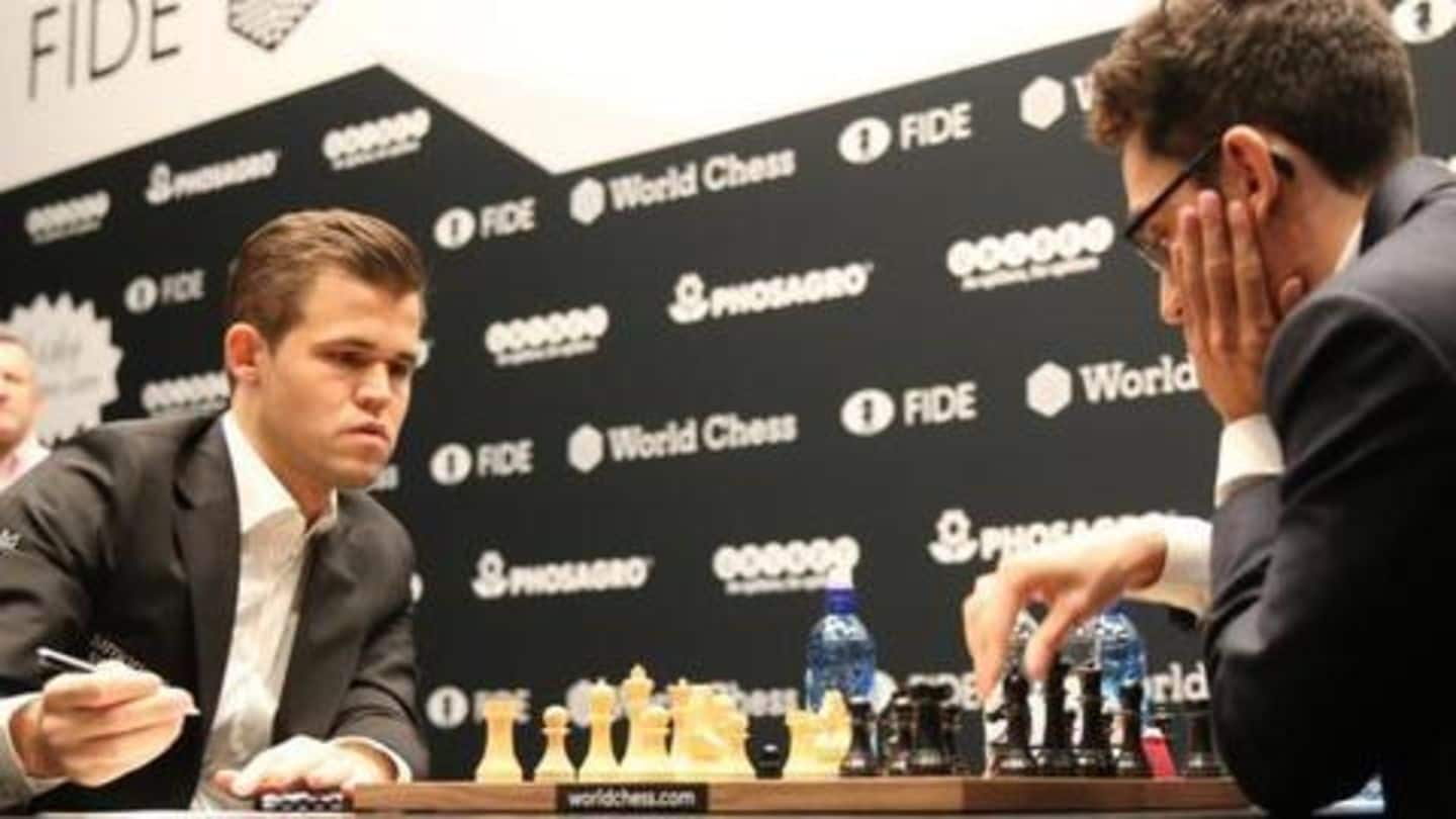 World Chess Championship: Carlsen-Caruana draw fourth match amid video controversy