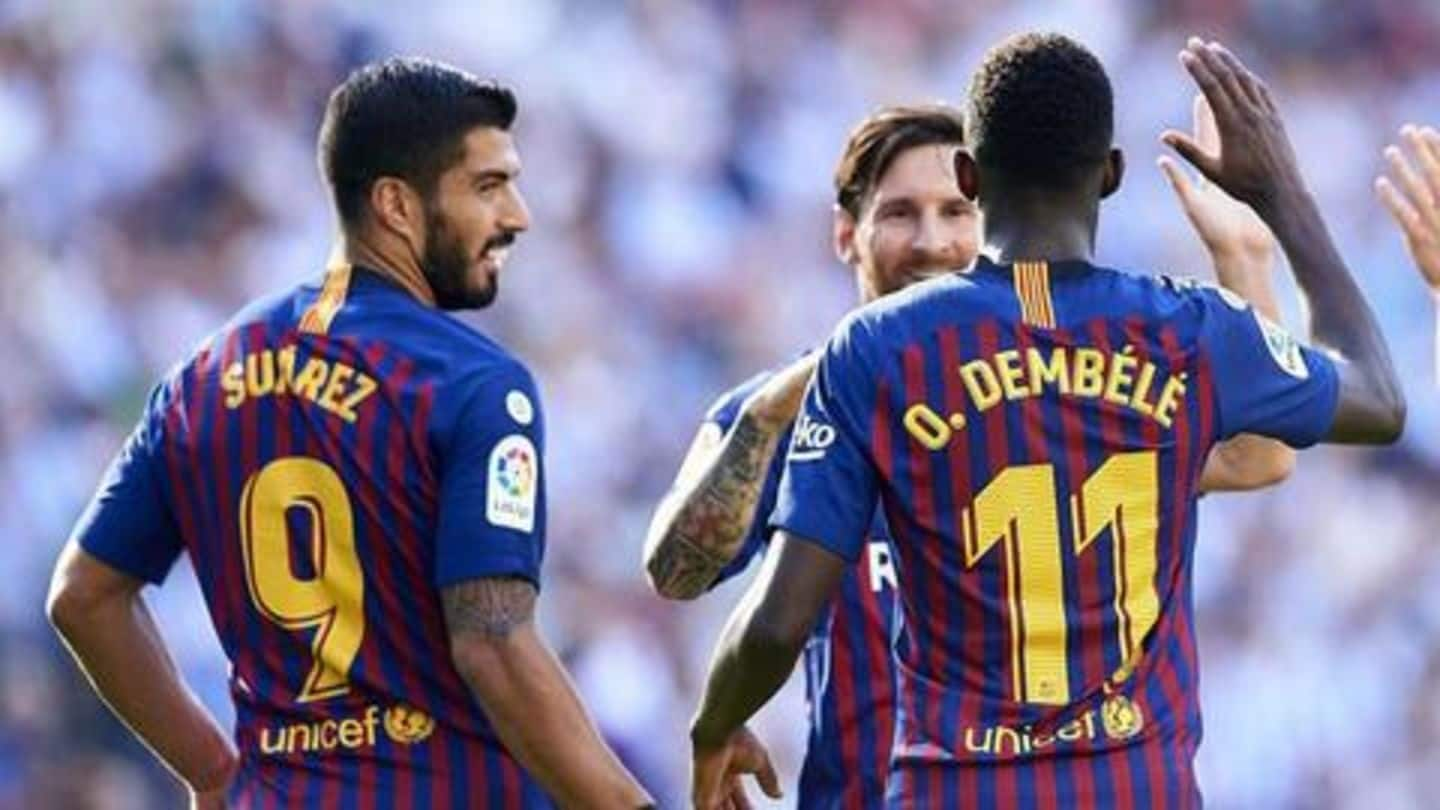 Be more professional: Suarez warns Barcelona youngster Dembele