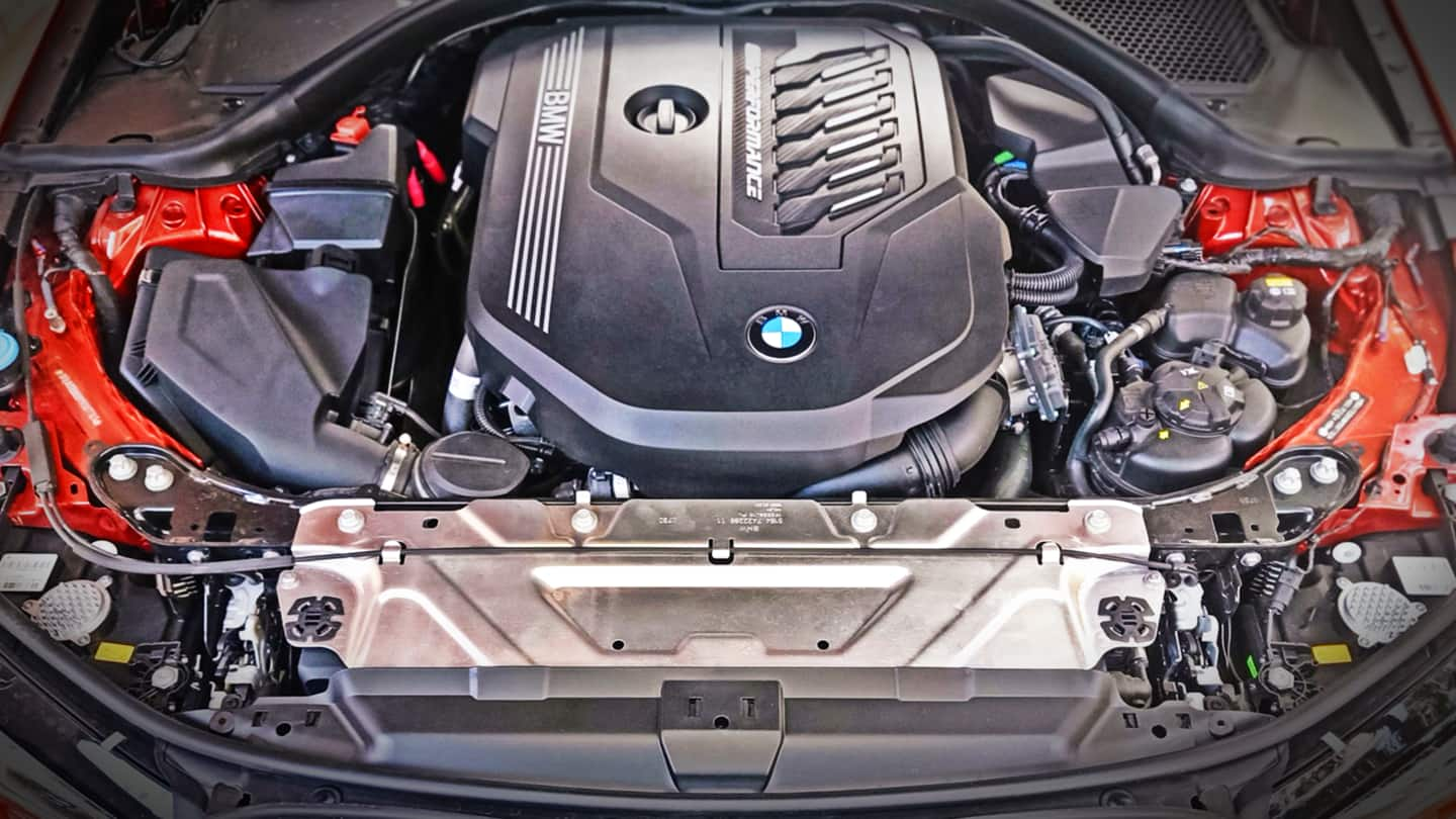 The turbo-petrol motor develops 387hp of power