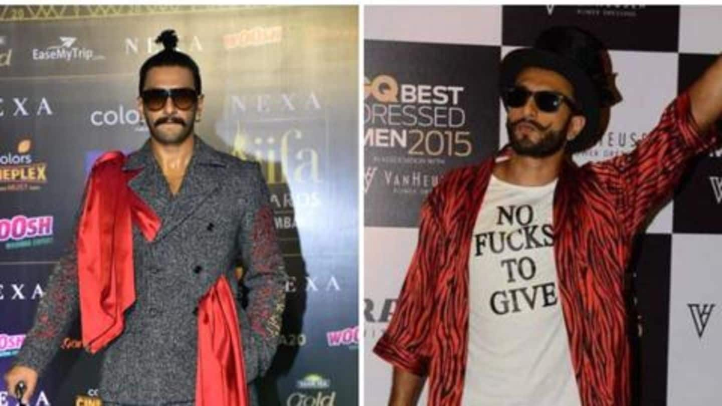 5 times Ranveer Singh shocked us with his sartorial choices