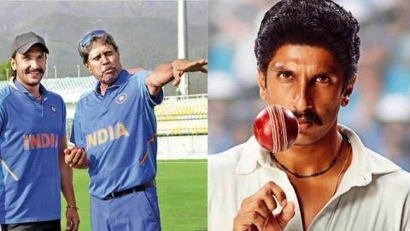 Here's how Kapil Dev reacted to Ranveer's look in '83