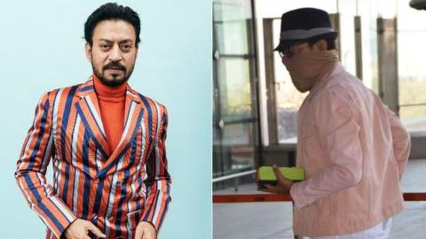 Amid cancer treatment, Irrfan gets clicked for the first time