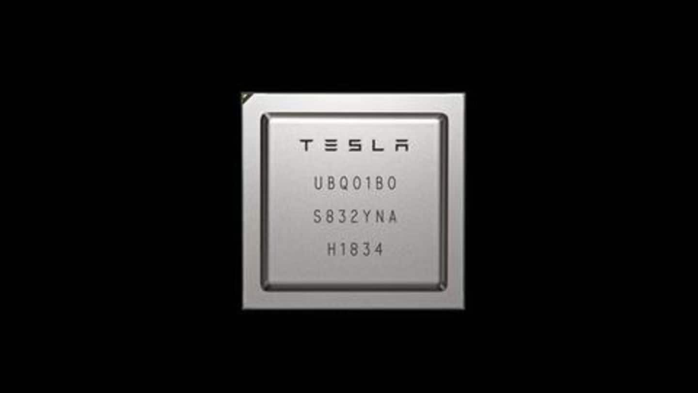 Tesla unveils new self-driving chip, promising 21 times better performance