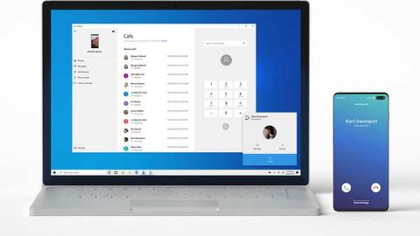 Now, you can answer calls on your Windows PC