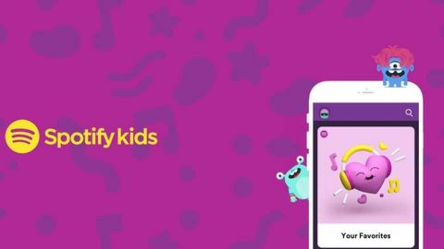 Now, there's a 'kids' version of Spotify with curated playlists