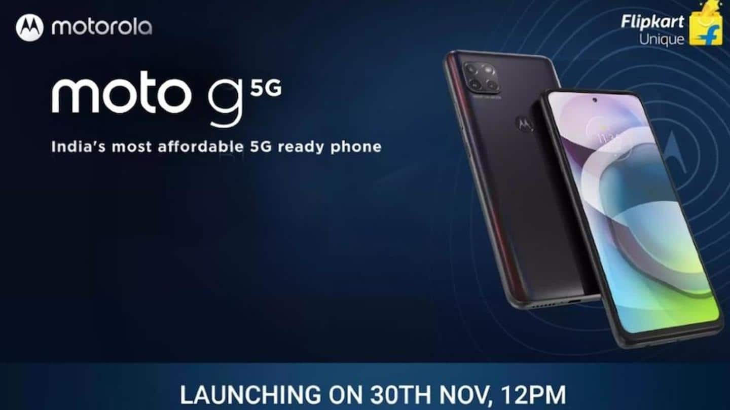 Moto G 5G is launching in India on November 30