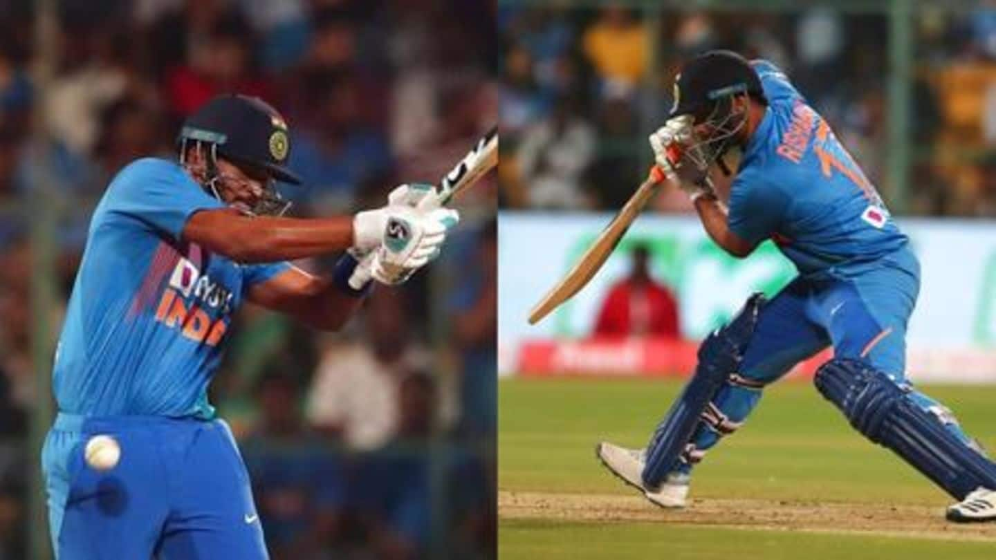 Why both Pant and Iyer came to bat at number-4?