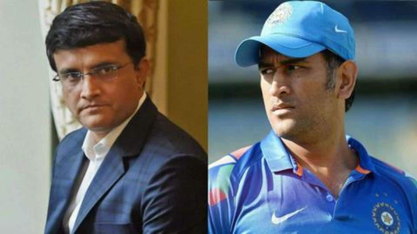 I have absolute clarity about Dhoni's future: Sourav Ganguly